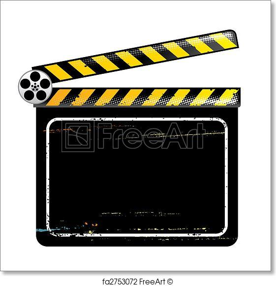 561x581 Free Art Print Of Movie Clapper Board. Clapper Board, Vector