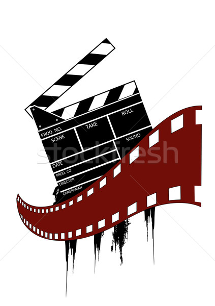 423x600 Movie Clapper Board Vector Illustration Edmond Mihai Vertes