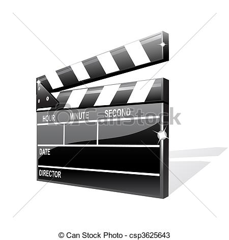 450x470 Vector Clapper Board Isolated On White.