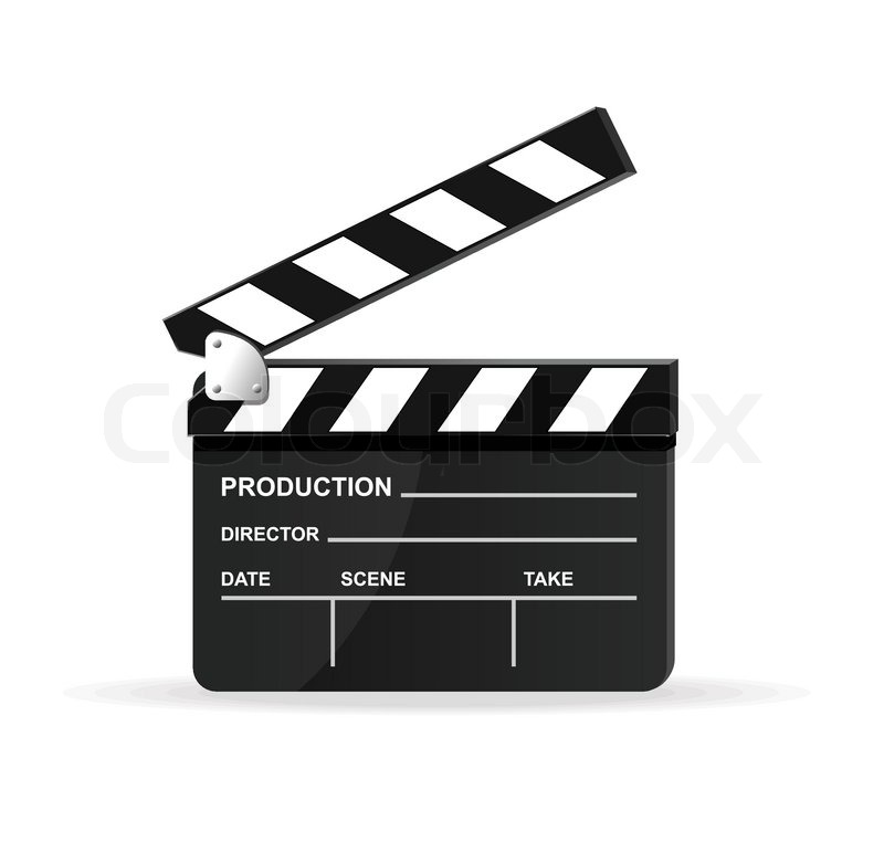 800x762 Vector Movie Clapper Board Stock Vector Colourbox