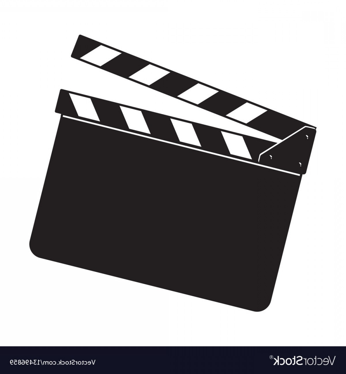 1200x1296 Blank Cinema Production Black Clapper Board Vector Createmepink