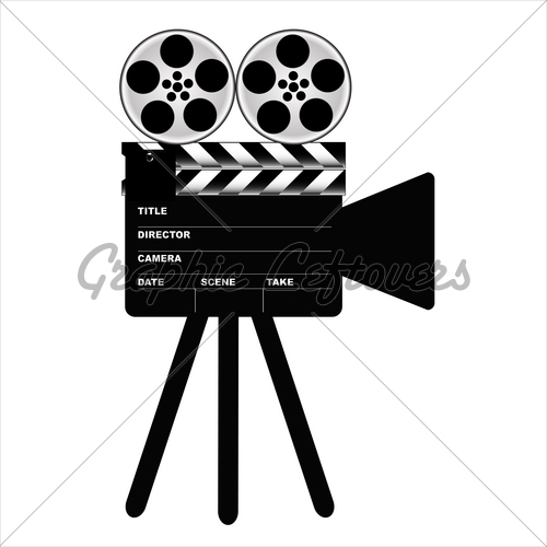 500x500 Camera Movie Clapper Board, Vector Gl Stock Images