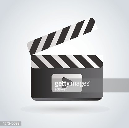 416x414 Cinema Film Clapper Board Vector Illustration Icon Premium Clipart