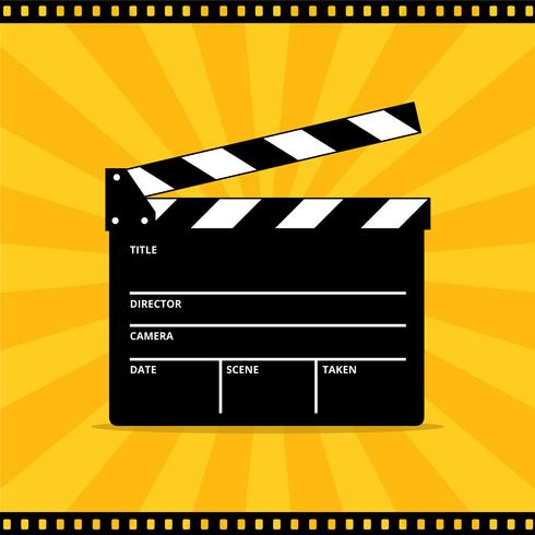 490x490 Clapper Board Vector For Movie Or Film