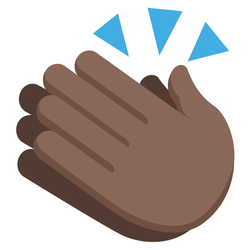512x512 Clapping Hands Sign Dark Skin Tone Emoji Emoticon Vector Icon