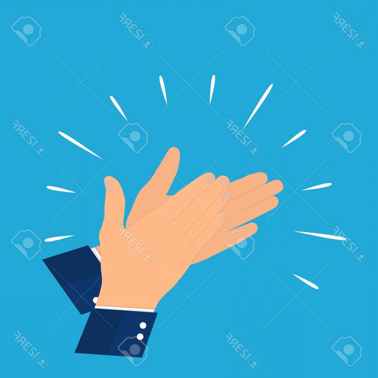 1560x1560 Glamorous Photostock Vector Hands Clapping Vector Illustration