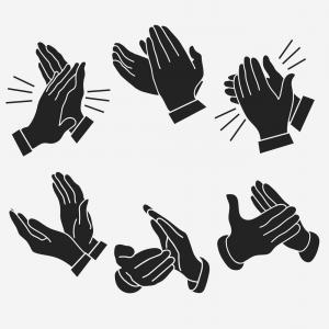 300x300 Chic Applause Clapping Hands Vector Lazttweet