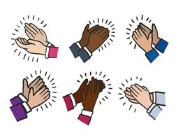 255x200 Hands Clapping Free Vector Art