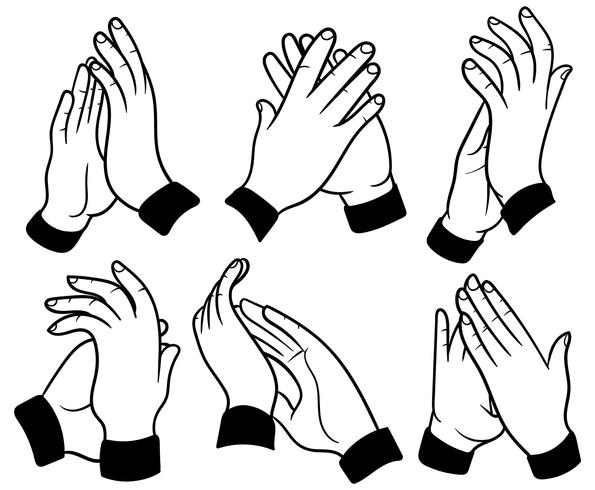 595x490 Hands Clapping Vector Icons Download Free Vector Art Stock Praying
