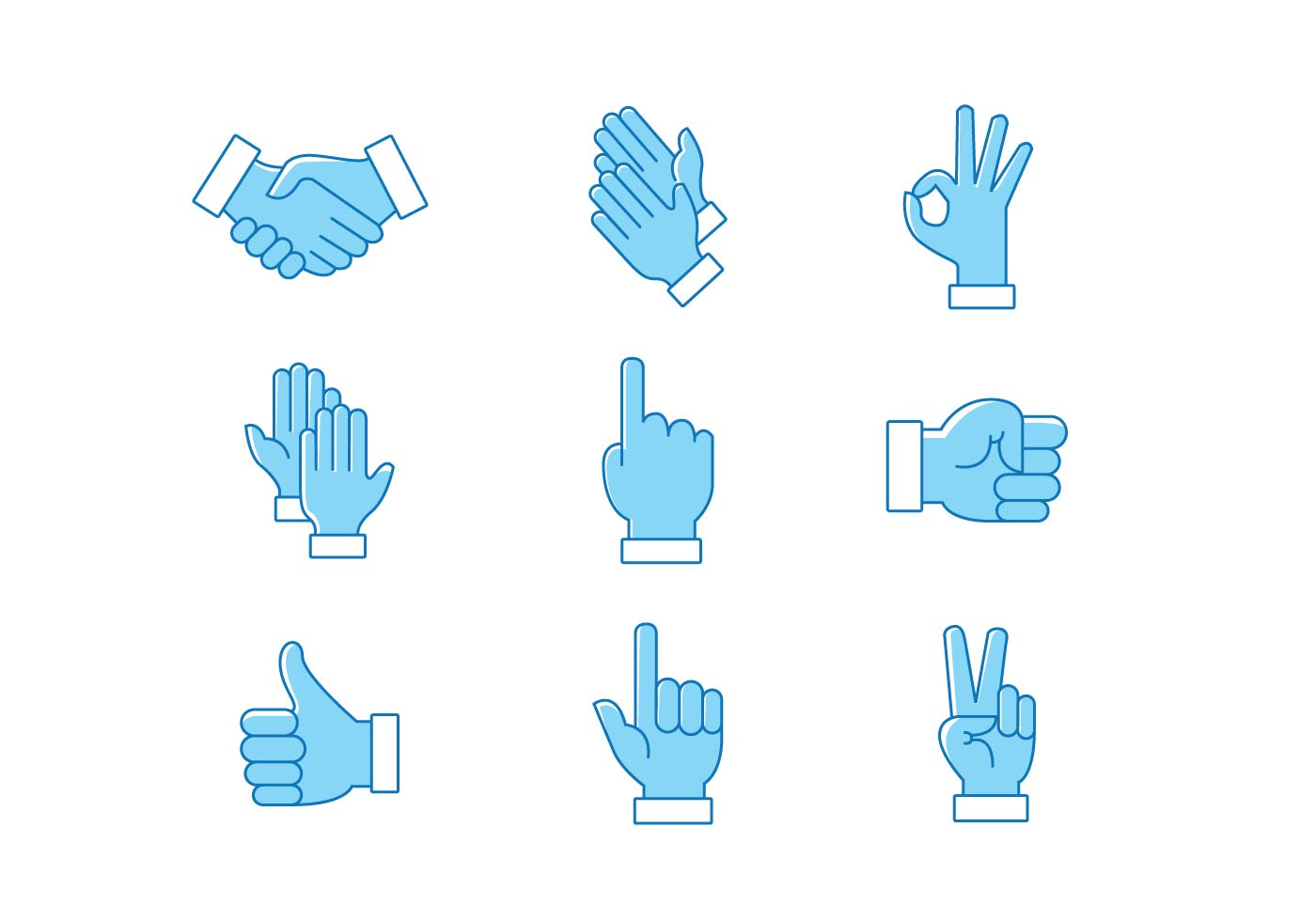 1400x980 Hands Clapping Vector Pack