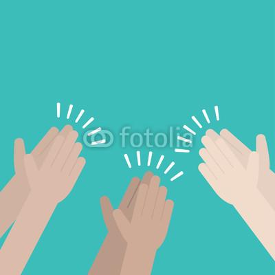 400x400 Human Hands Clapping. Applaud Hands Vector Buy Photos Ap