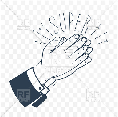 400x394 Icon Of Clapping Hands With Text N Vector Image Vector Artwork