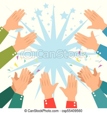 447x470 Human Hands Clapping Ovation Applaud Hands Vector Illustration