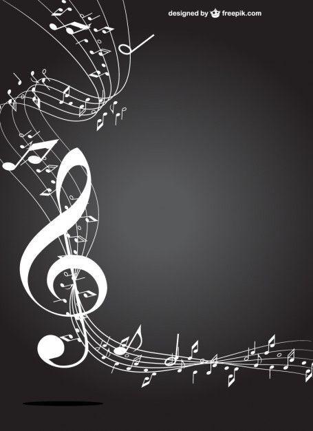 455x626 Clave De Sol Blanco Y Negro Vector Gratis Musica