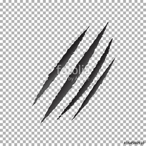 500x500 Claws Scratch Vector, Animal Claw Scratch Stock Image And Royalty