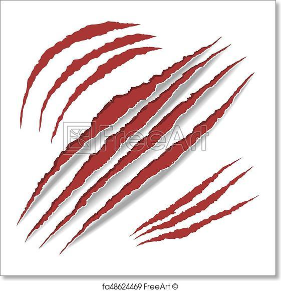 561x581 Free Art Print Of Animal Claws Scratches. Vector. Animal Claws
