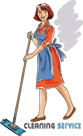 324x531 Cleaning Lady Stock Vectors
