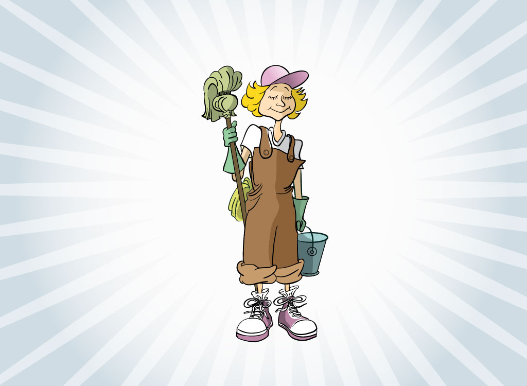 1024x750 Cleaning Lady