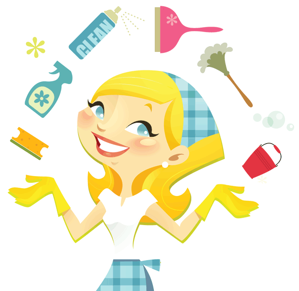 618x600 Old Clipart Cleaning Lady