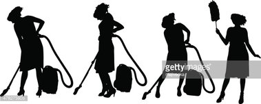 379x152 Vector Silhouette Of A Cleaning Stock Vectors