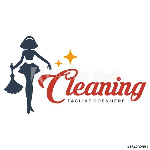 500x500 Cleaning Lady Service Woman Maid Logo Template