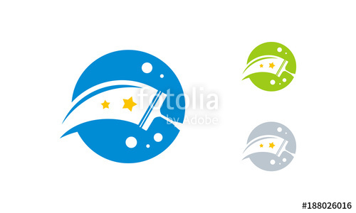 500x300 Cleaning Service Logo Designs Template Vector, Iconic Cleaning