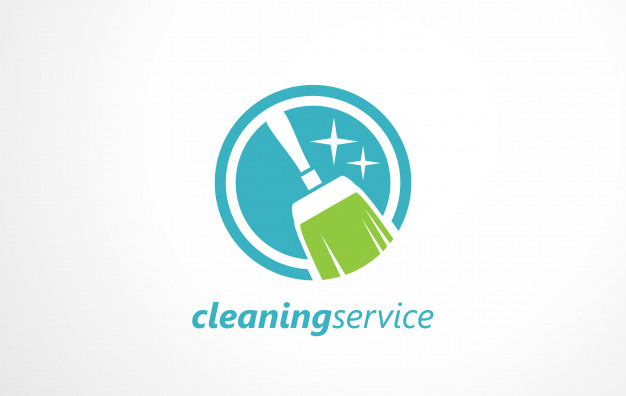 626x396 Cleaning Service Logo. Vector Premium Download