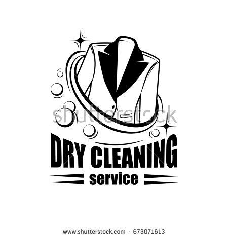 450x470 Dry Cleaning Service Logo Or Badge With Jacket. Vector Icon For