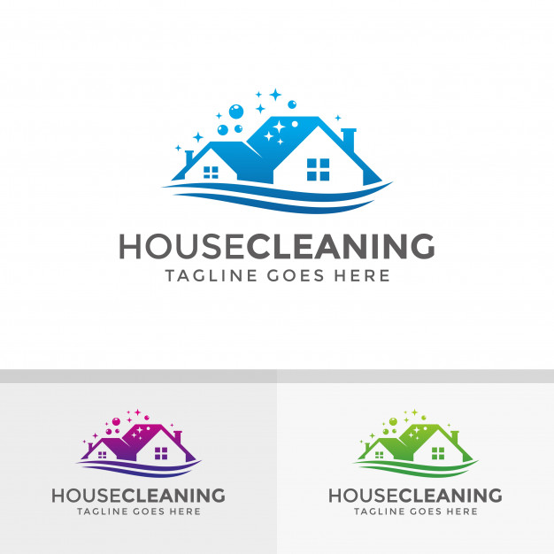 626x626 House Cleaning Logo Design