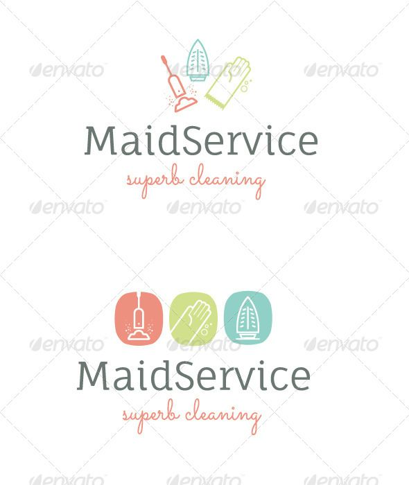 590x700 House Cleaning Service Logo Vector Eps