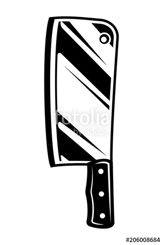 334x500 Vintage Meat Cleaver Knife Icon Stock Image And Royalty Free