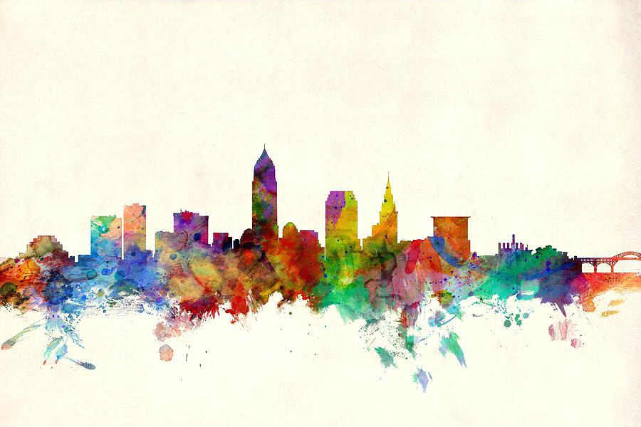 900x600 Cleveland Skyline Art Downtown Vector Chaincuttersunion