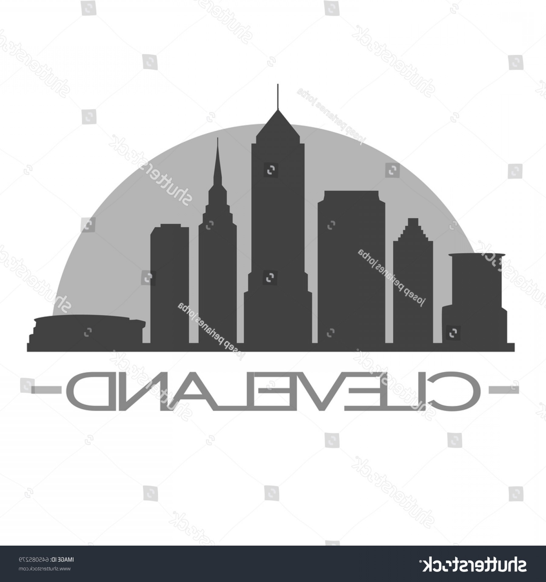 1800x1920 Cleveland Skyline Silhouette Stamp Vector City Shopatcloth