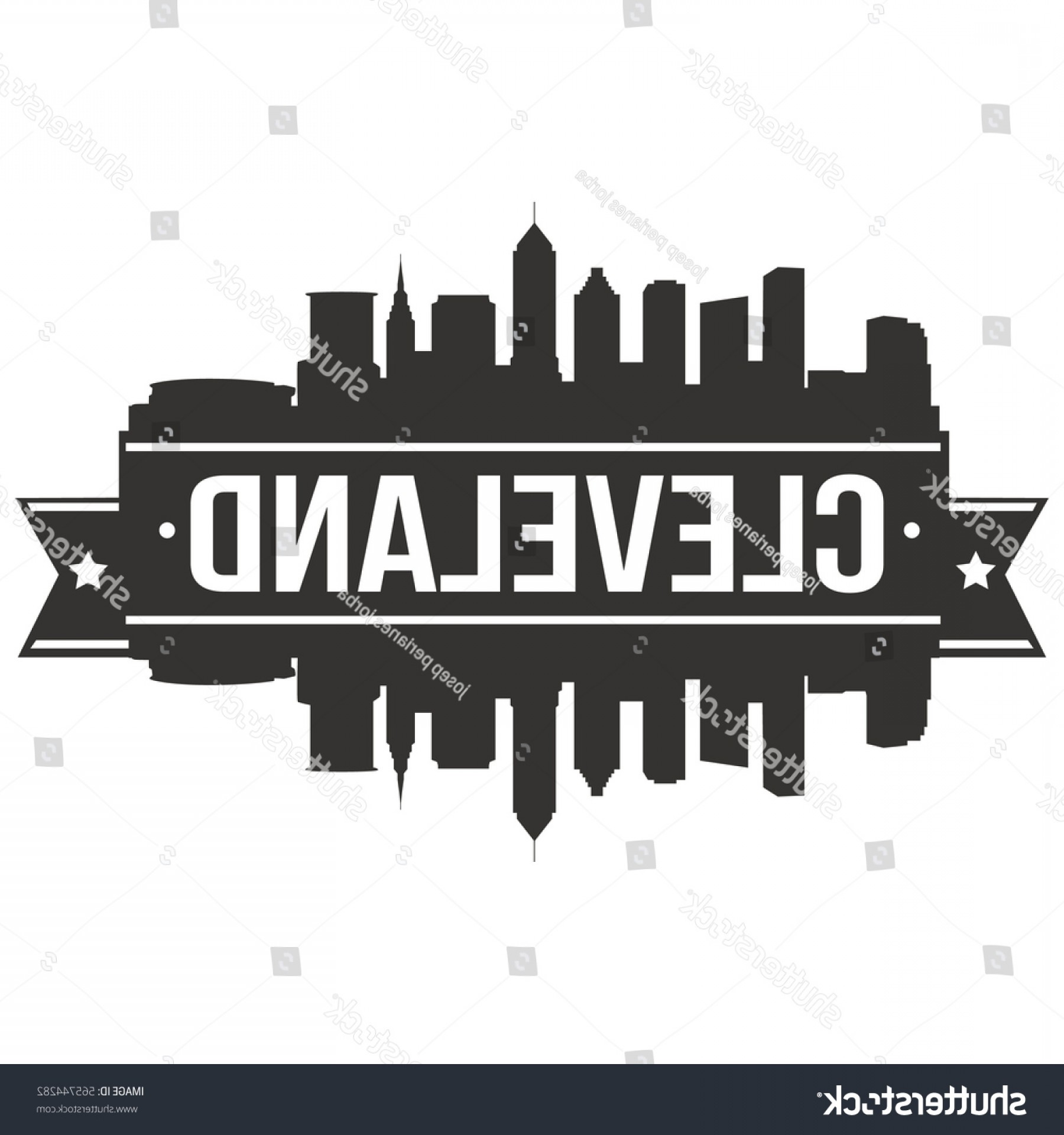 1800x1920 Cleveland Skyline Stamp Silhouette Vector City Shopatcloth