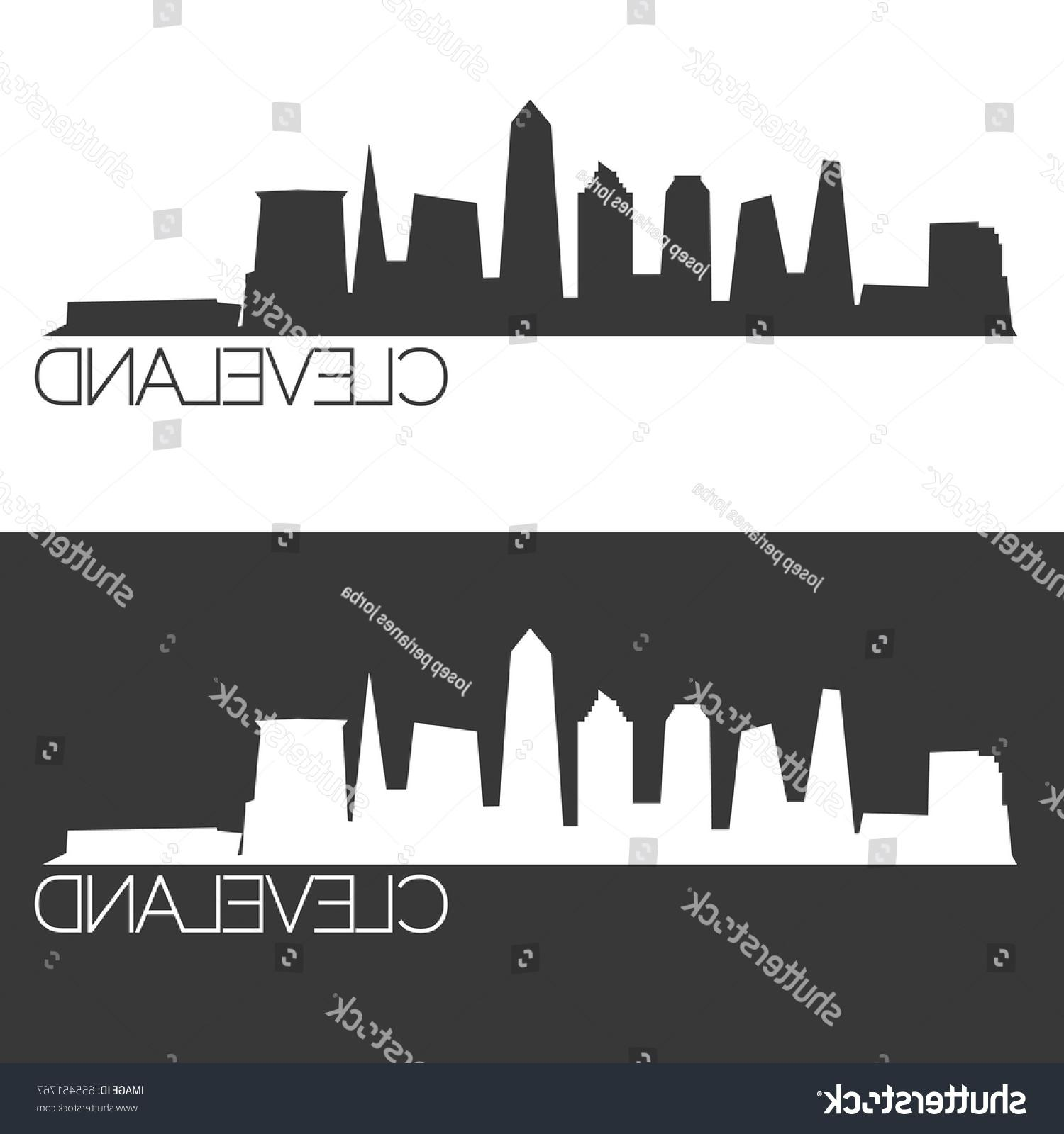 1500x1600 Best Stock Vector Cleveland Skyline Silhouette Abstract Design
