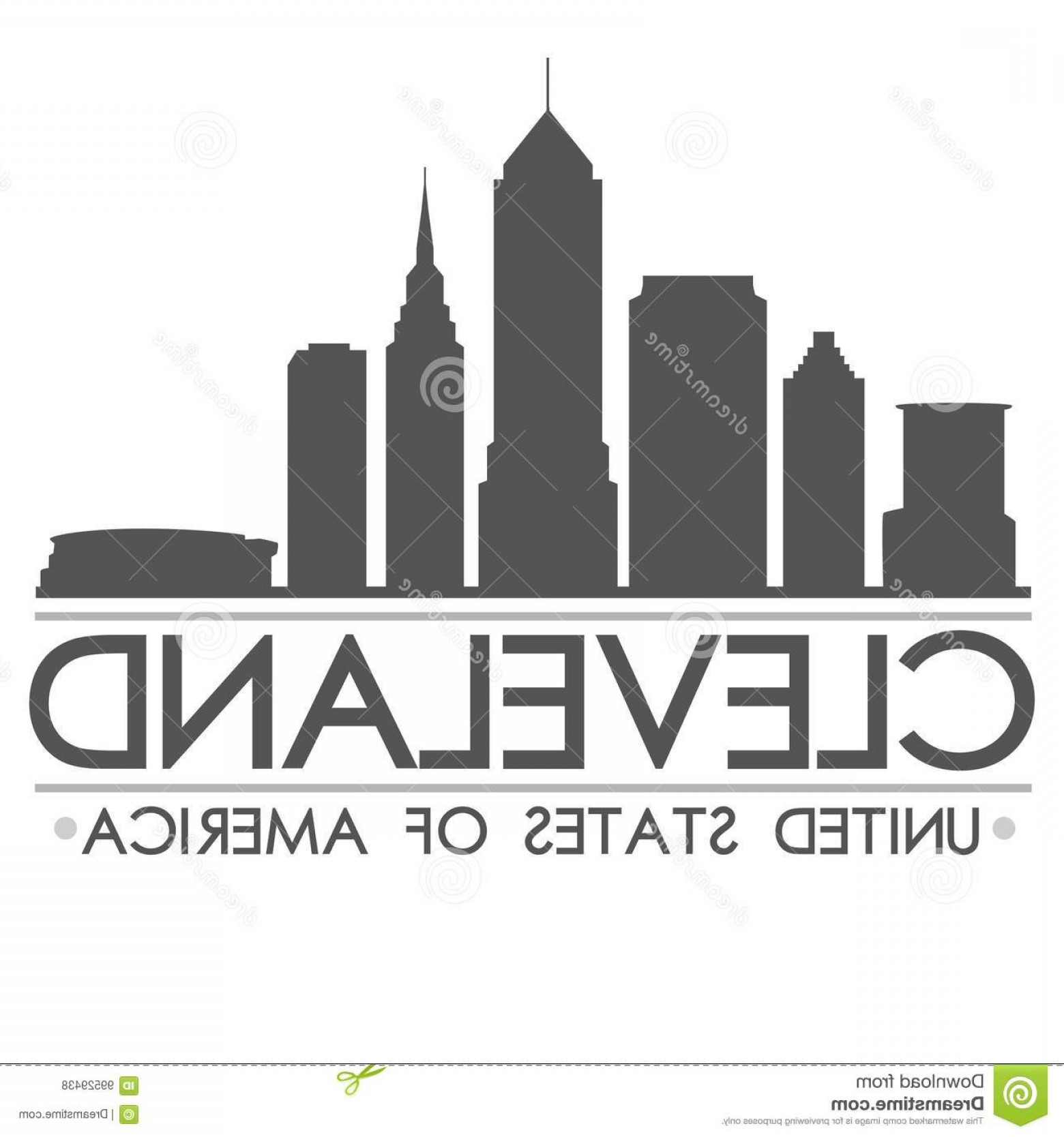 1560x1668 Stock Illustration Cleveland Skyline Silhouette Design City Vector