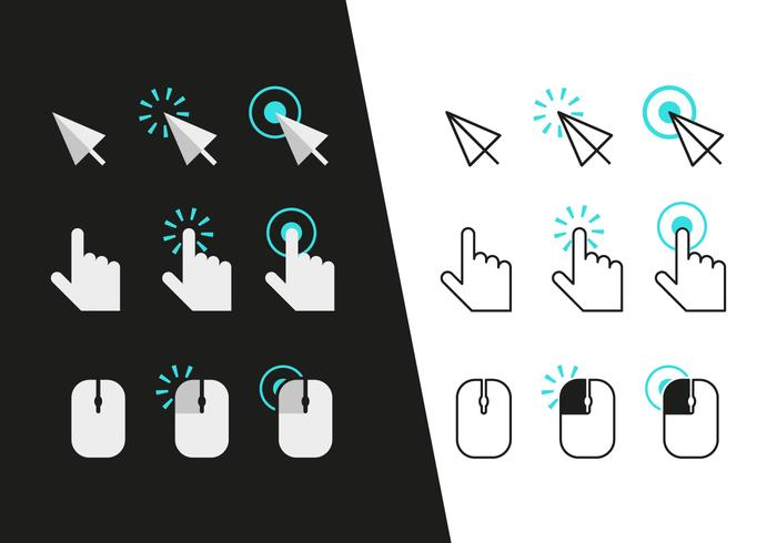 700x490 Mouse Click Icons Vector