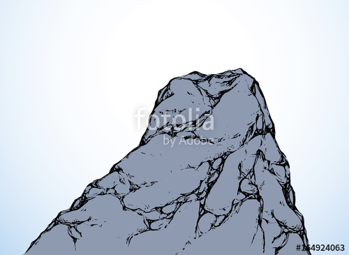 500x365 Cliff. Vector Drawing Stock Image And Royalty Free Vector Files