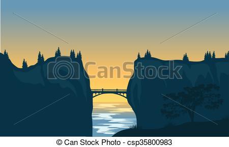 450x290 Silhouette Of Bridge And Cliff