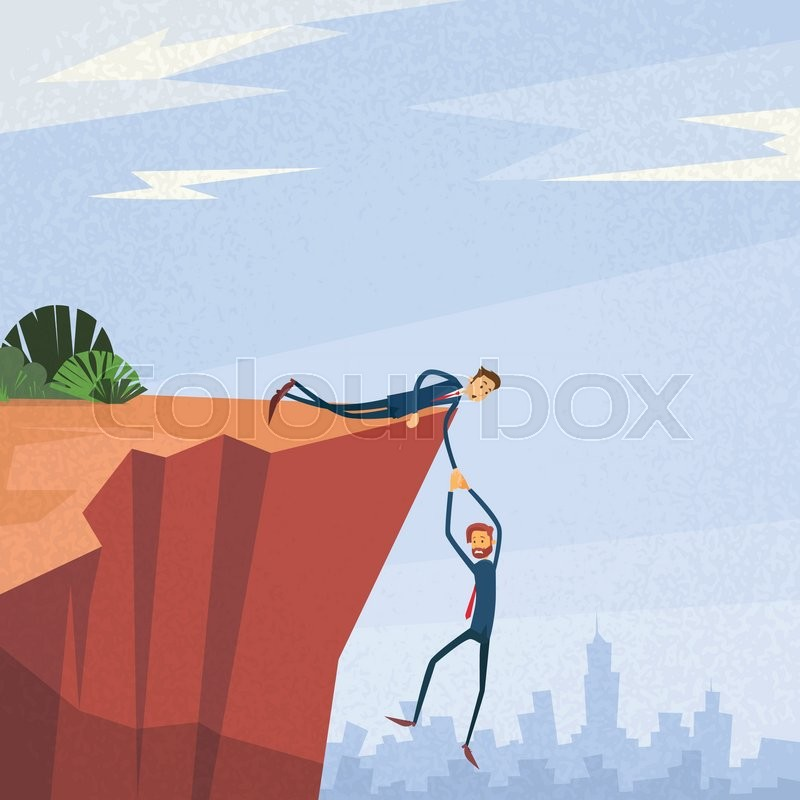800x800 Businessman Holding Hands Hanging Cliff Partner Support Business