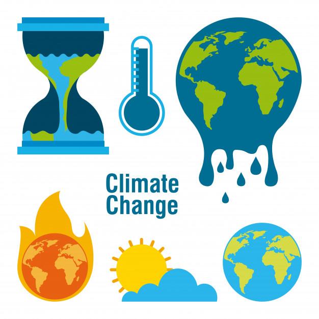626x626 Climate Change Set Vector Premium Download