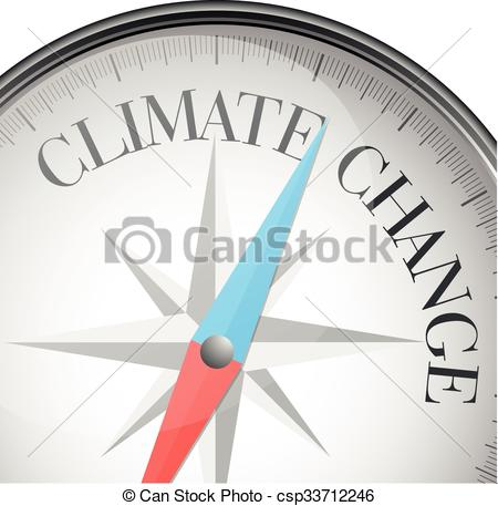 450x457 Compass Climate Change. Detailed Illustration Of A Compass With