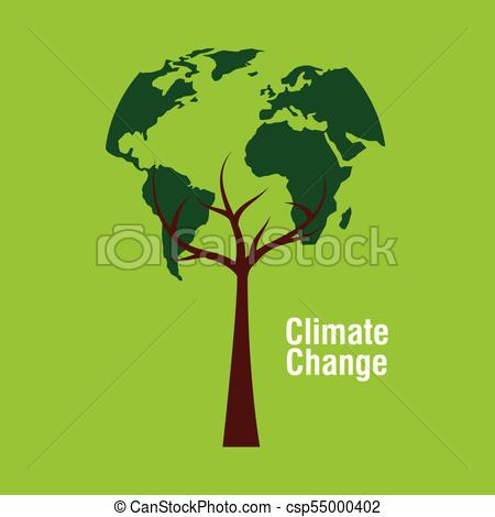 450x470 Planet Earth Shape Tree Ecology Climate Change Vector Illustration.
