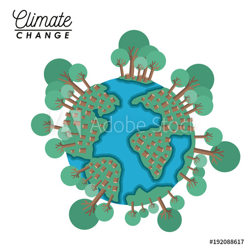 500x500 Effects Of Climate Change Vector Illustration Design
