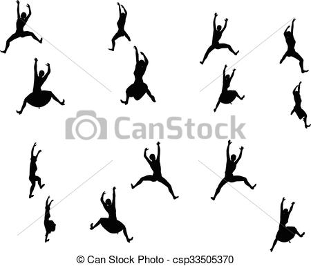 450x385 Eps 10 Vector Illustration In Silhouette Of Businesswoman Climbing.