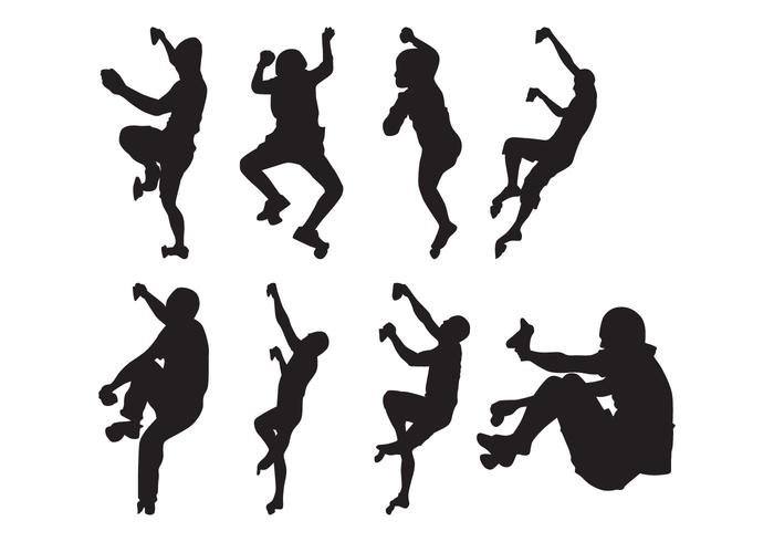 700x490 Free Climber Silhouettes Vector