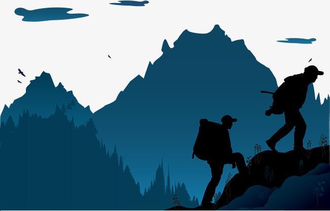 650x416 Mountain Climbing Vector, Mountain Vector, Night, Mountain Peak