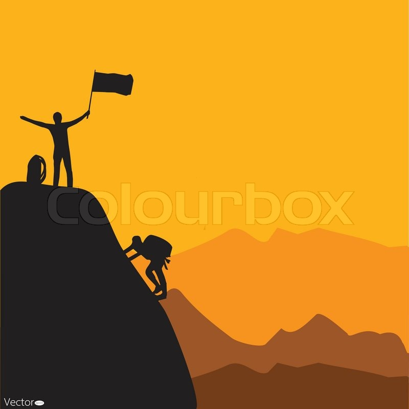800x800 Mountain Climbing, Vector Illustration Stock Vector Colourbox