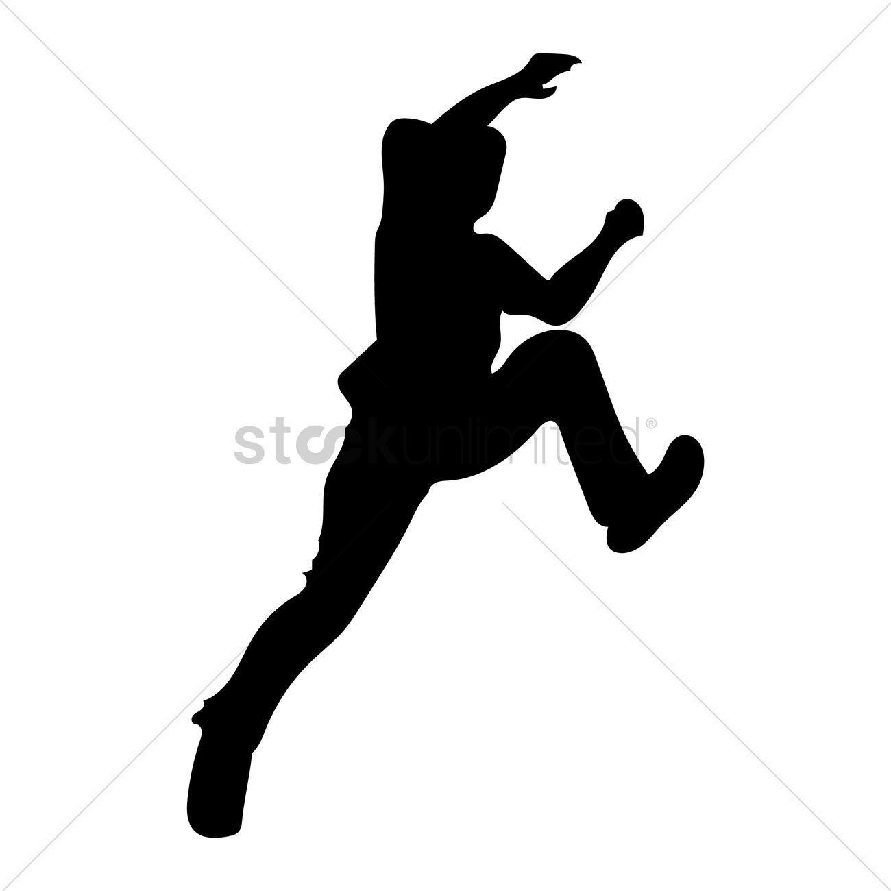 1300x1300 Silhouette Of Man Climbing Vector Image