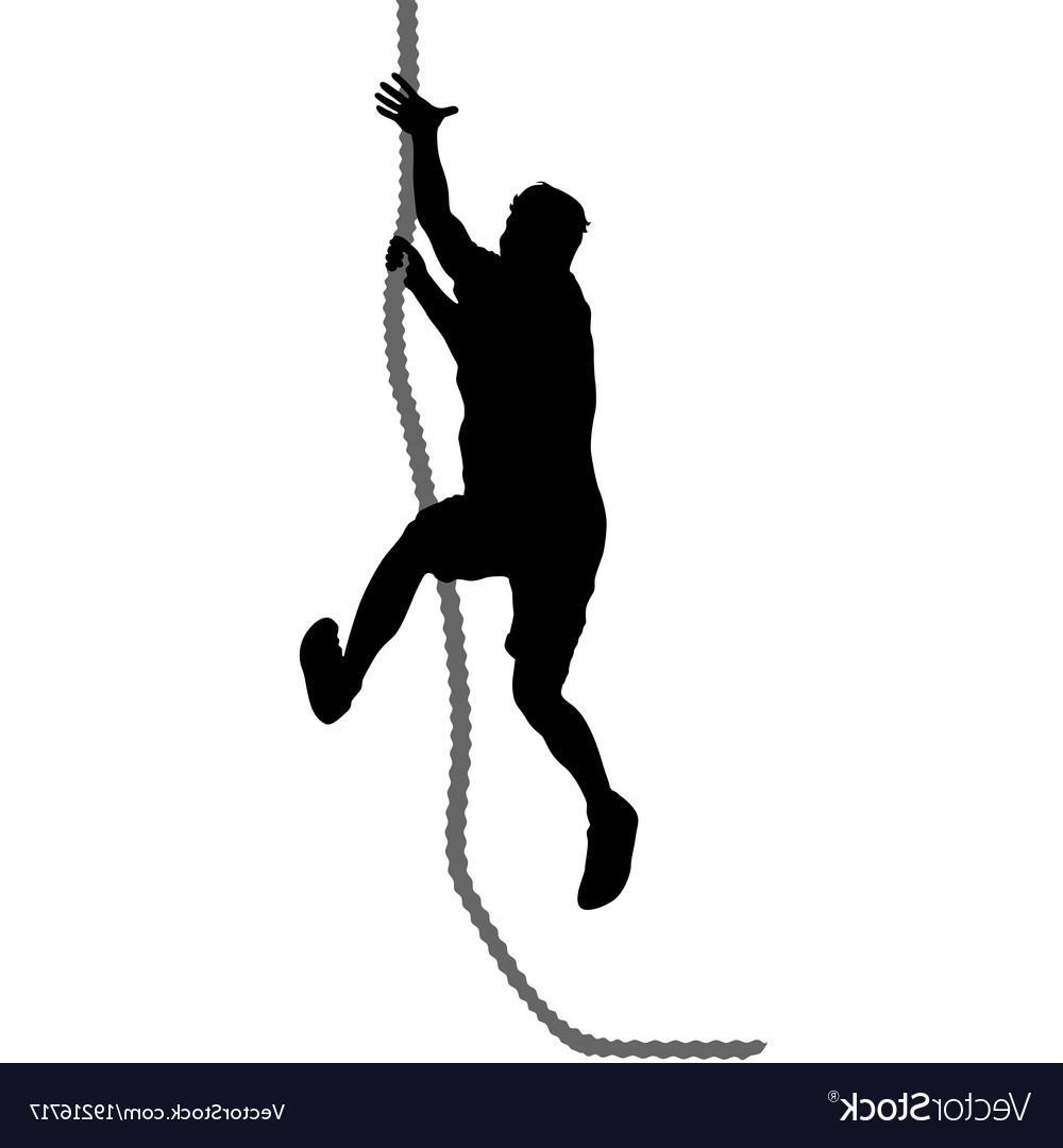 1000x1080 Best Black Silhouette Mountain Climber Climbing Vector Design